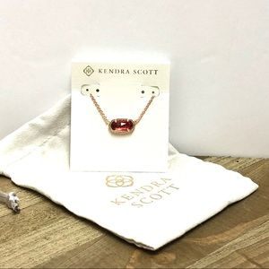 Kendra Scott Elisa Rose Gold and Berry Necklace